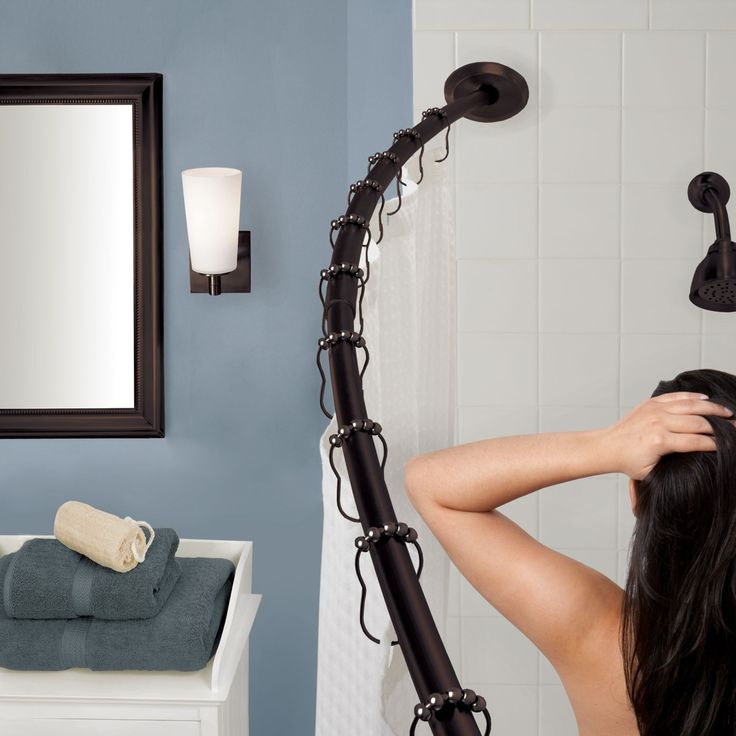 Oil Rubbed Bronze Curved Bathe Curtain Rods Are Extra Durable And Load More Great Fashionable Than Other Choices Fdg